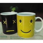 Smiling face Magic Ceramic Mugs