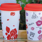 Valentine's Day Eco cups With Silicone Cover