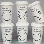 Smiling face Tea cups With Silicone Cover