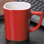 Red Square 10oz Ceramic Mugs