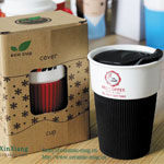 Black Eco cups With Silicone Cover