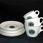 Starbucks Ceramic Coffee Cup & Saucer 2