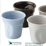 Deformation Glazed Ceramic Coffee Cups