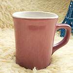Colored Square Stoneware Mugs