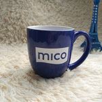 Blue Colored ceramic mugs