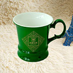 Green Colored Ceramic Mugs